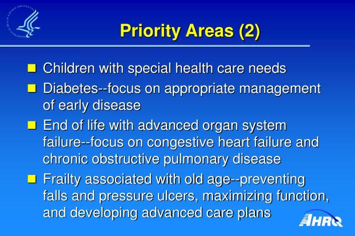 Priority Areas (2)