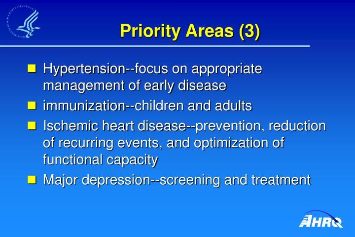Priority Areas (3)