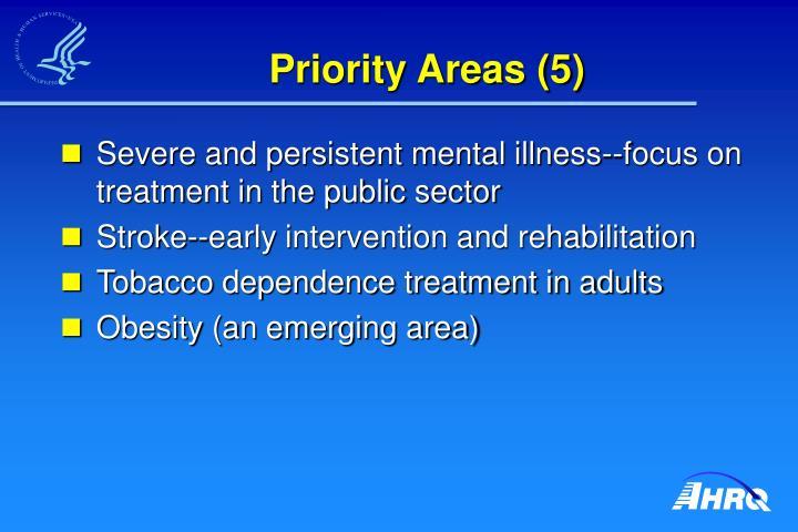 Priority Areas (5)