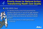 priority areas for national action transforming health care quality