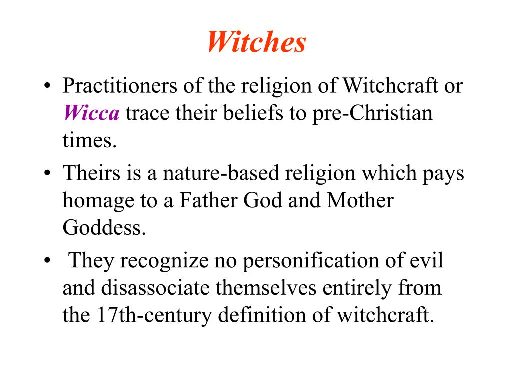 a description of witchcraft as a nature based belief system or religion