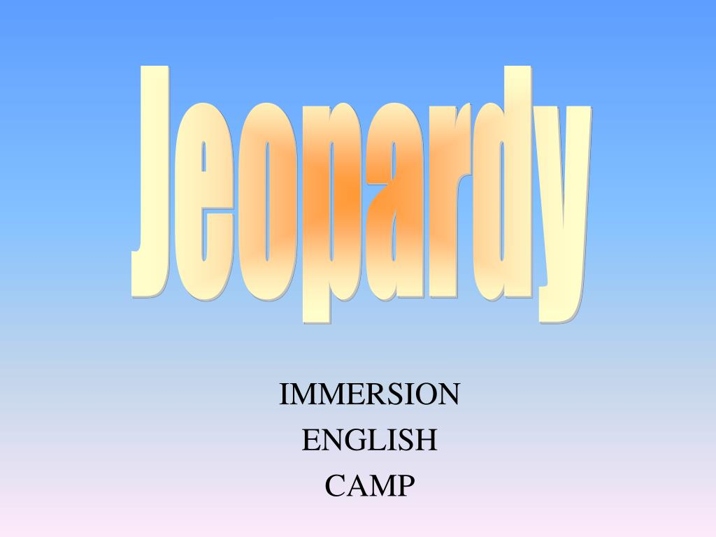 immersion english camp l.