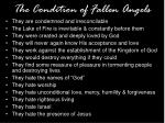 the condition of fallen angels