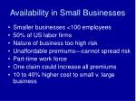 availability in small businesses