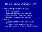 do you know your abcd s