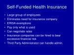 self funded health insurance
