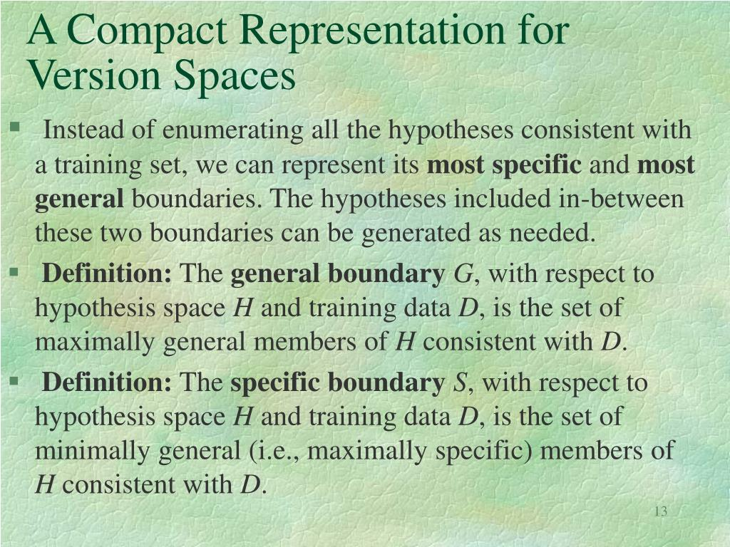 A Compact Representation for Version Spaces