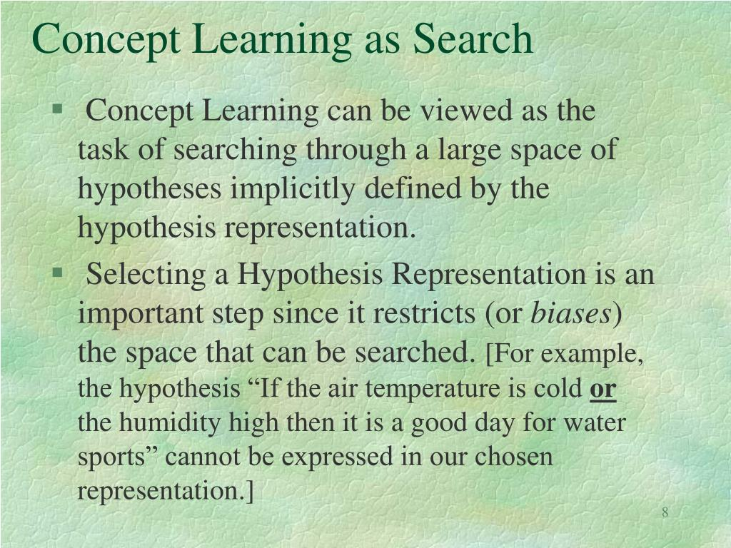 Concept Learning as Search