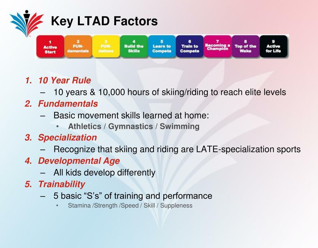 Key LTAD Factors