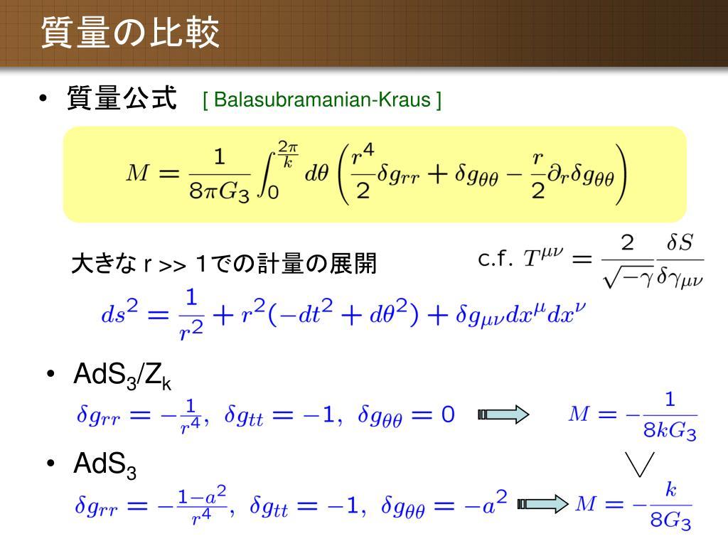AdS/CFT 対応によるブラックホールとタキオン凝縮の解析 - PowerPoint PPT Presentation