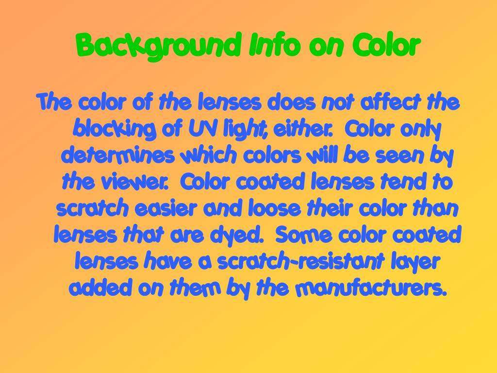 Background Info on Color