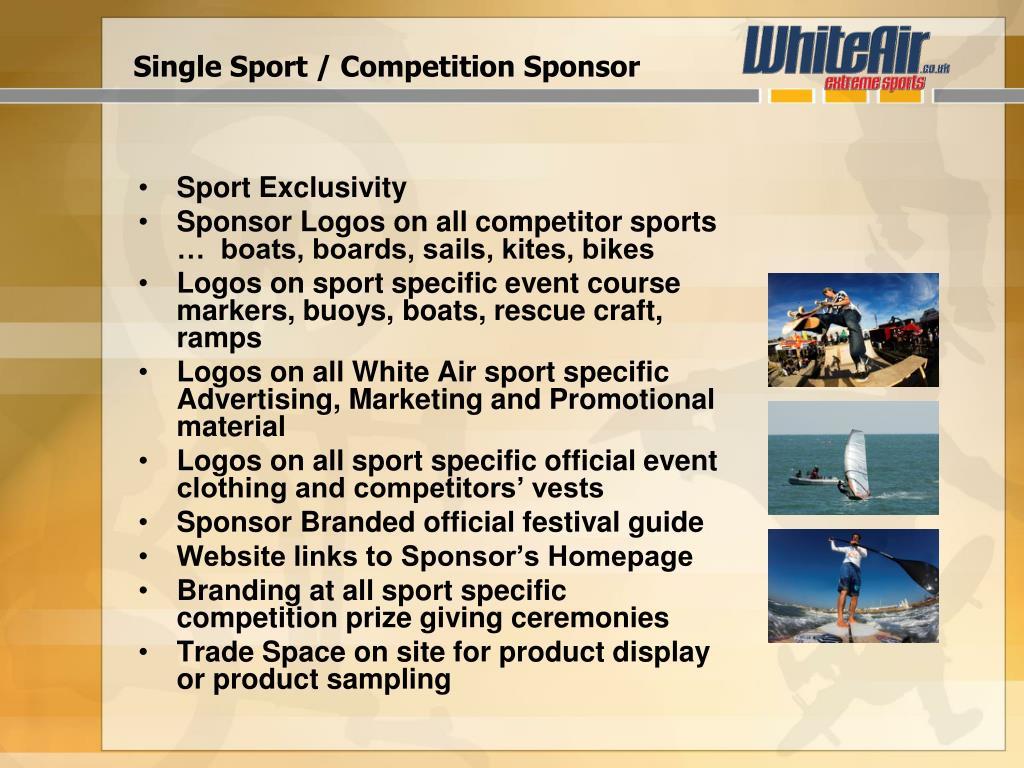 Single Sport / Competition Sponsor