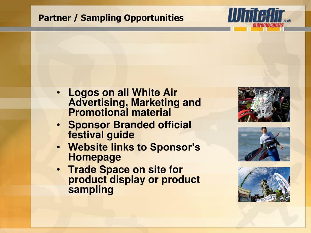 Partner / Sampling Opportunities