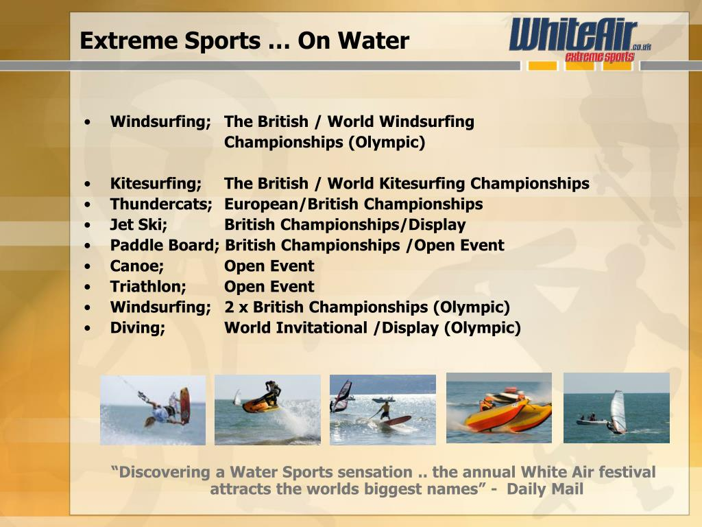 Extreme Sports … On Water