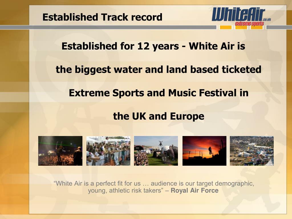 Established Track record