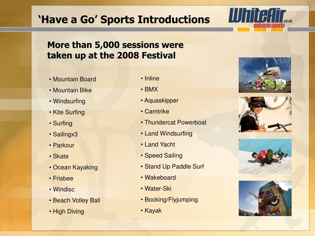 'Have a Go' Sports Introductions