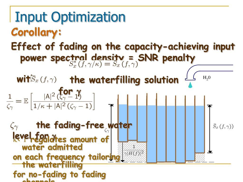 the waterfilling solution