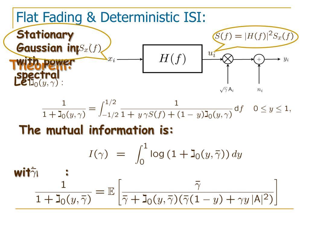 Stationary Gaussian inputs