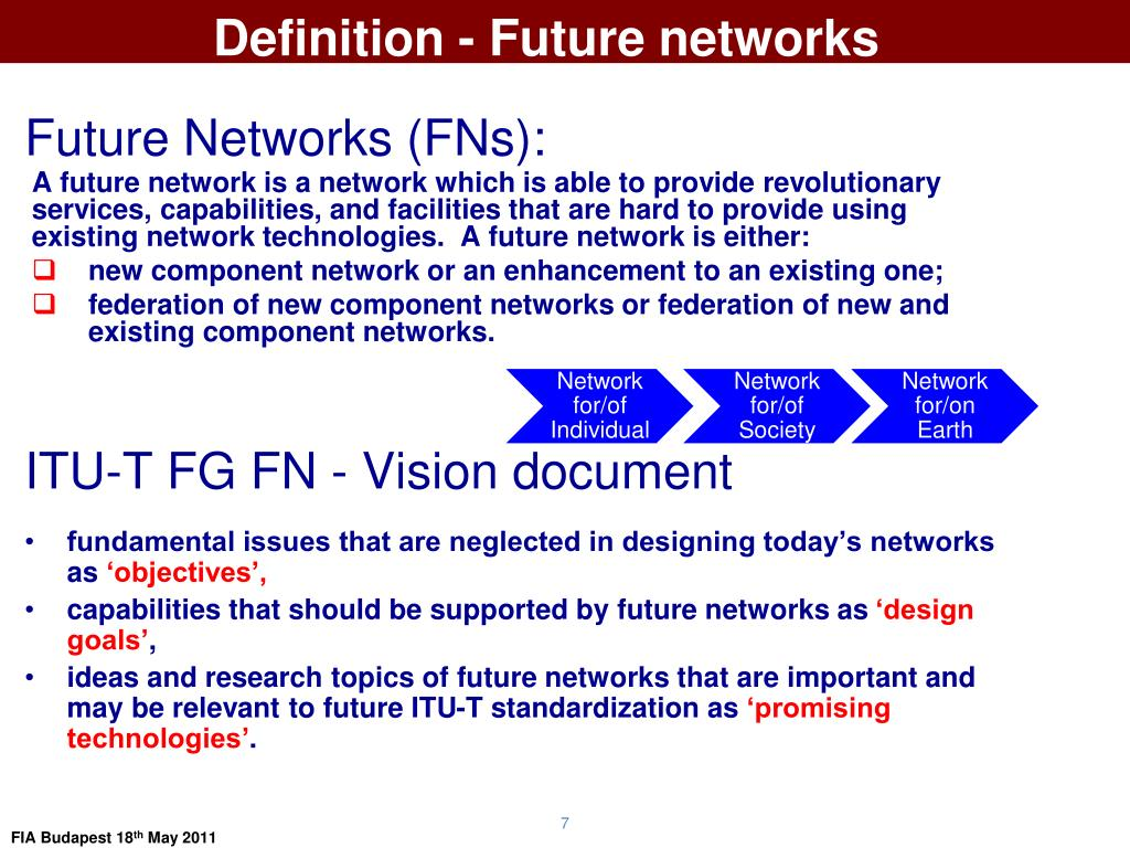 Definition - Future networks