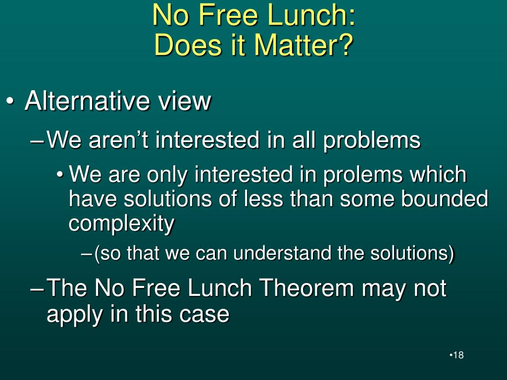 No Free Lunch: