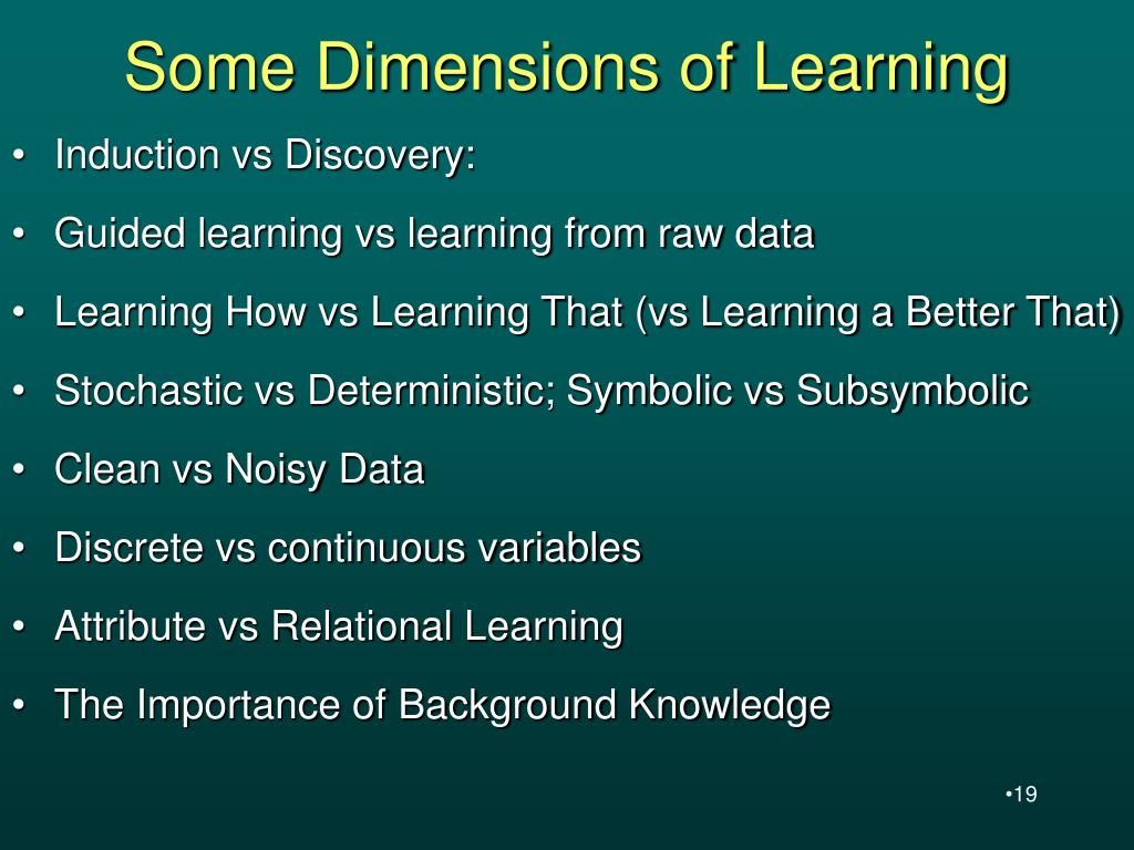 Some Dimensions of Learning