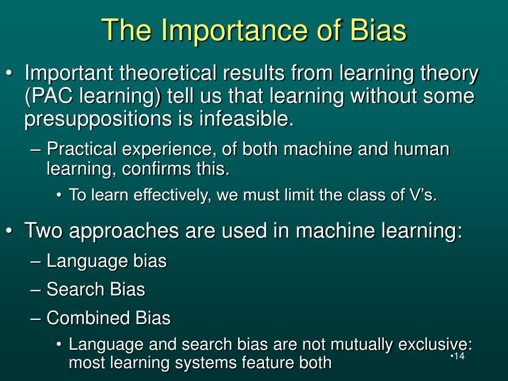 The Importance of Bias