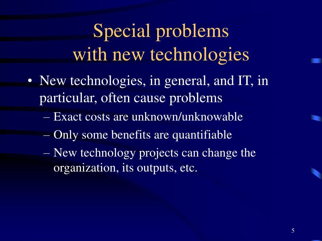 Special problems