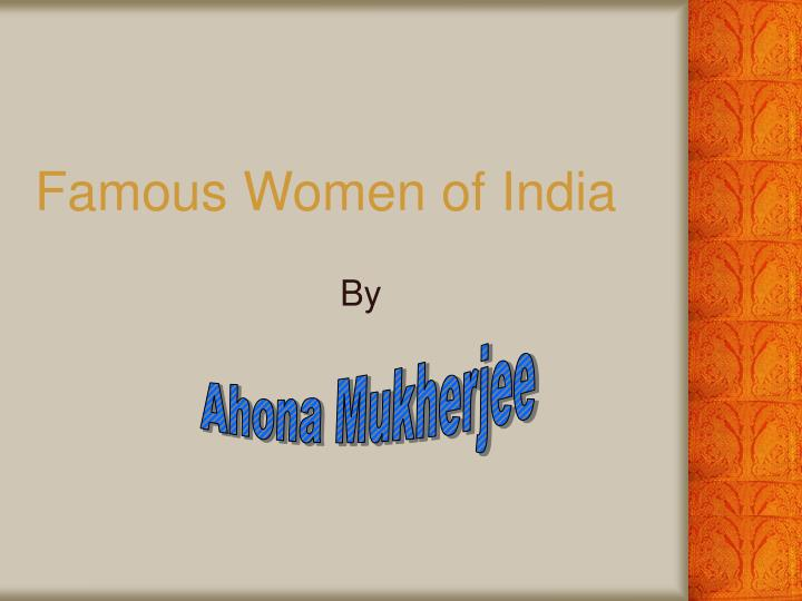 famous women of india n.