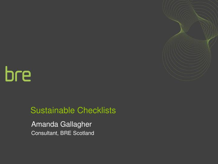 sustainable checklists n.