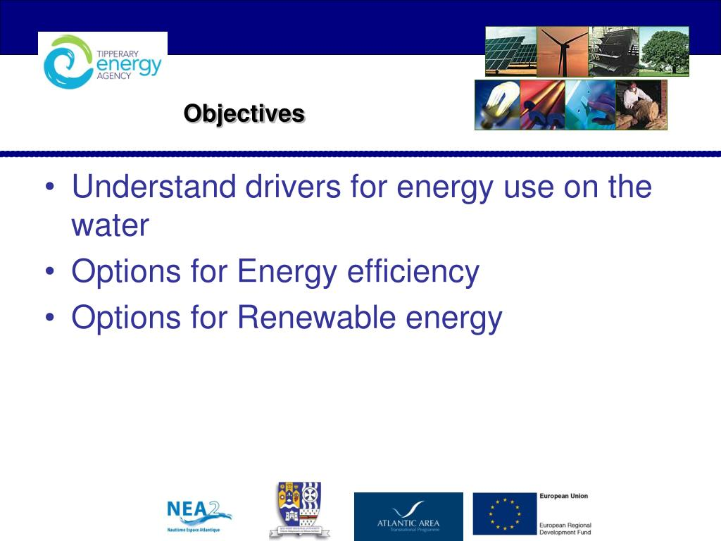 Understand drivers for energy use on the water
