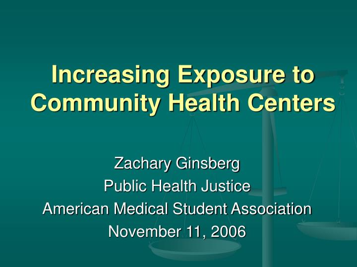 increasing exposure to community health centers n.