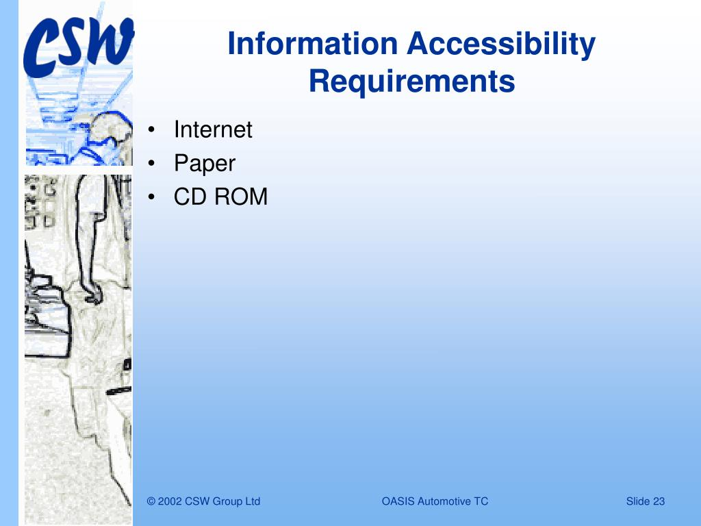 Information Accessibility Requirements