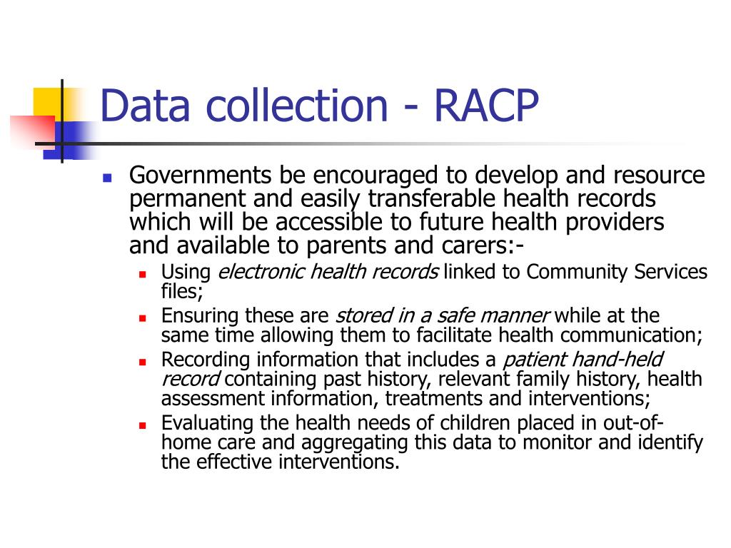 Data collection - RACP