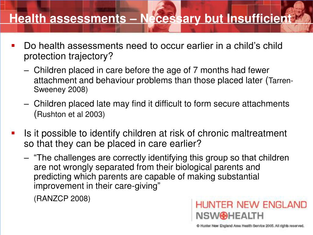 Health assessments – Necessary but Insufficient