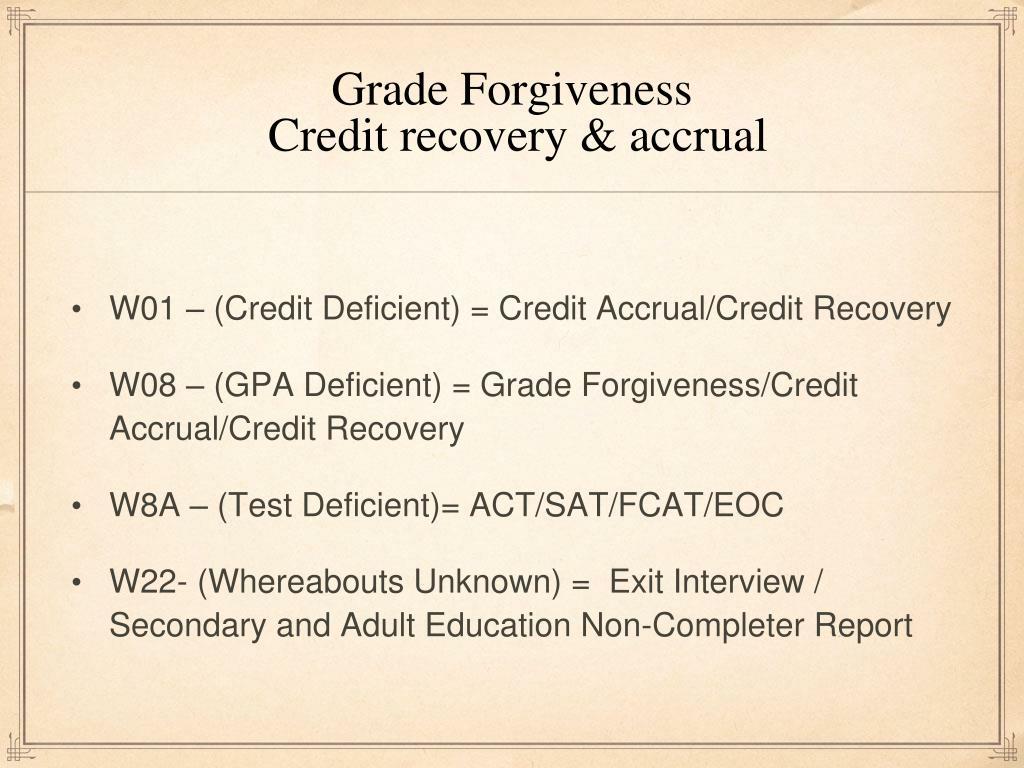 Grade Forgiveness