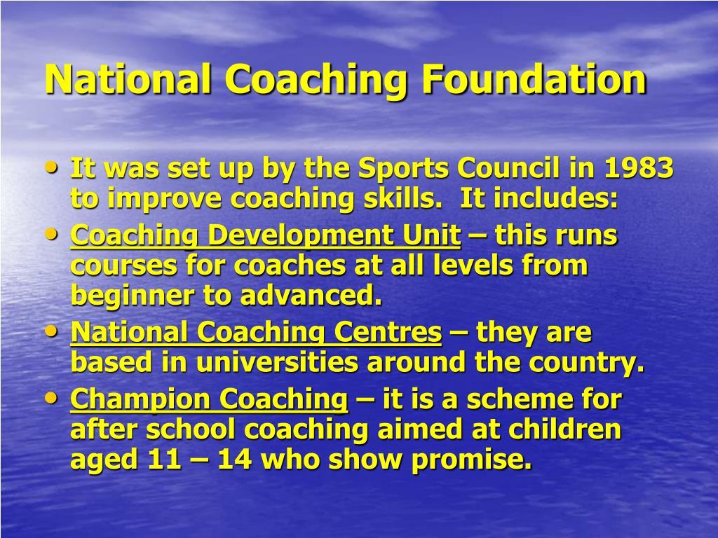 National Coaching Foundation