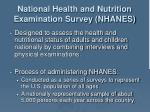 national health and nutrition examination survey nhanes