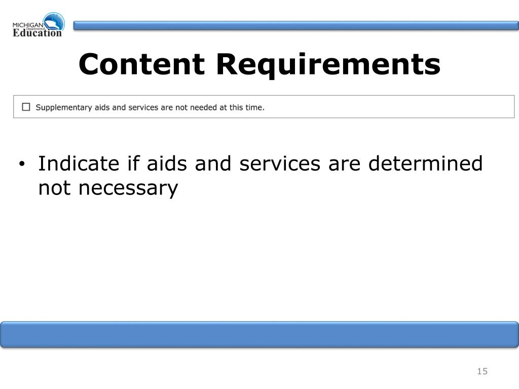 Content Requirements