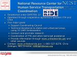 national resource center for human service transportation coordination