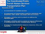 the coordinated public transit human services transportation plan
