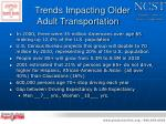 trends impacting older adult transportation