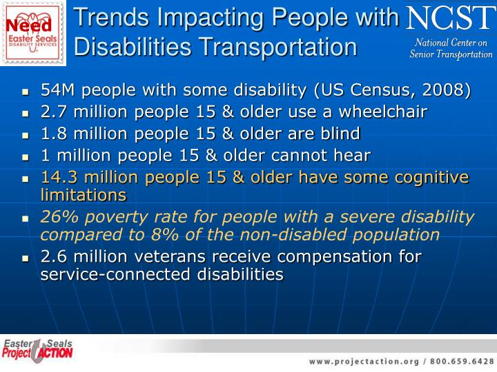 Trends impacting people with disabilities transportation