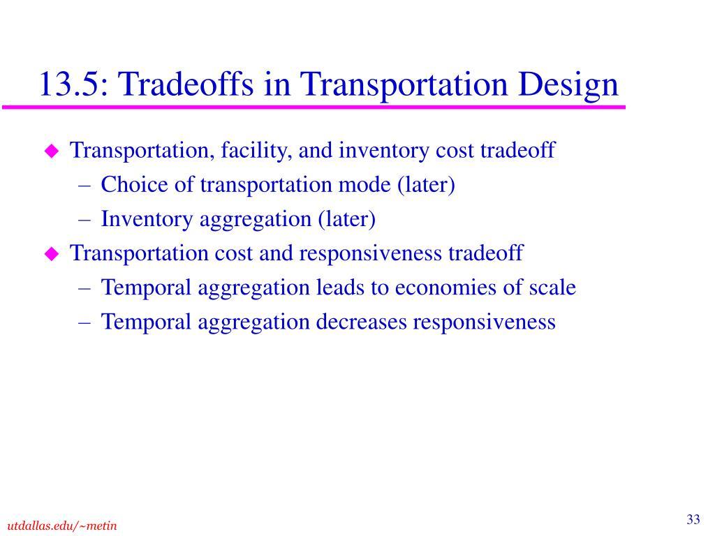 13.5: Tradeoffs in Transportation Design