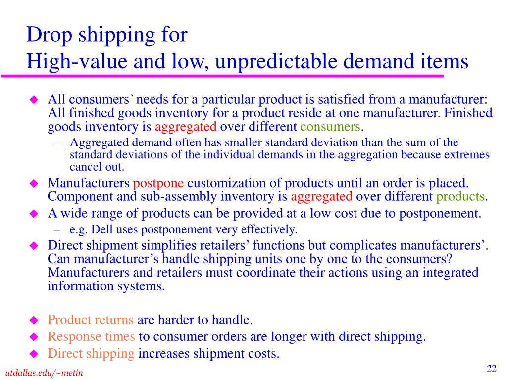 Drop shipping for