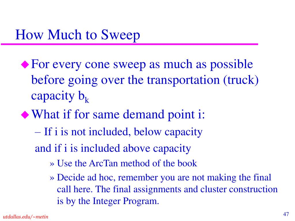 How Much to Sweep
