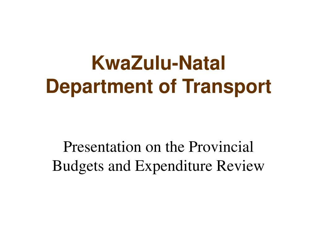 kwazulu natal department of transport l.