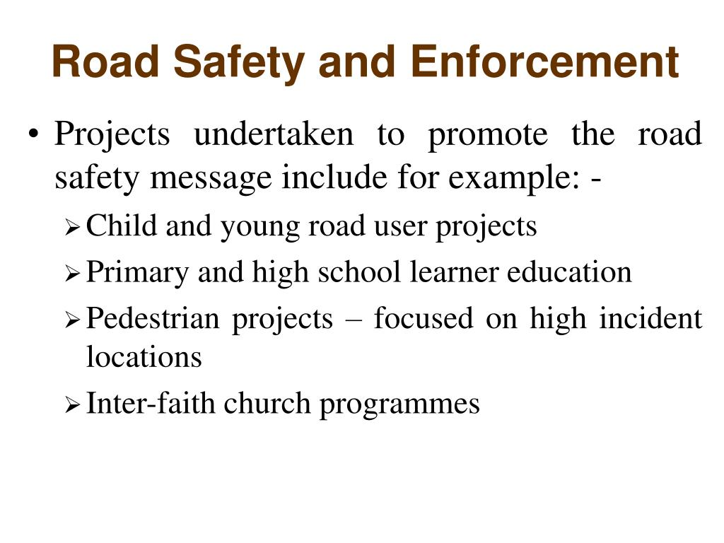 Road Safety and Enforcement