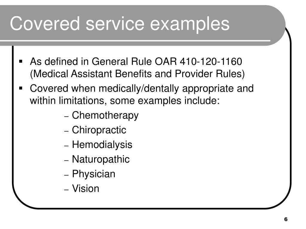 Covered service examples