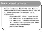 not covered services