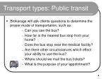 transport types public transit